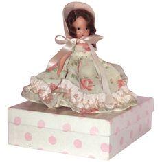 Nancy Ann Story Book Bisque Doll  Nursery Rhyme Series with Box - Curly Locks