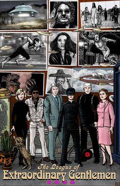 Comic Book Covers, Comic Books Art, Book Art, Race Bannon, League Of Extraordinary Gentlemen, Dark Comics, Comic Panels, Weird World, Gentleman