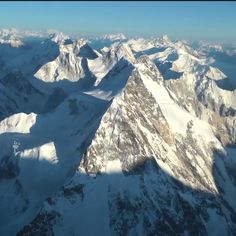 View from top of K2 mountain (from NG video documentary, 2012).