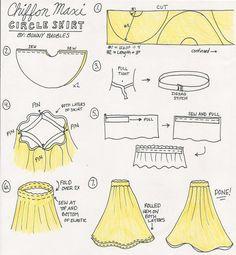 DIY Chiffon Maxi Circle Skirt Sewing Tutorial - Fabric Wholesale Direct