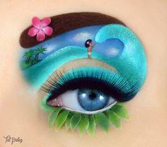of Tal Peleg& most stunning makeup art that takes it to a whole new level. - of Tal Peleg& most breathtaking makeup art that has taken it to a whole new level - Artist Makeup, Eye Makeup Art, Eyeshadow Makeup, Makeup Set, Makeup Artists, Lip Art, Festival Stil, Disney Eye Makeup, Moana Makeup