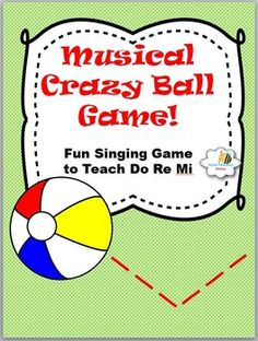 Click now to instantly download your fun Crazy Ball Game and Lesson Plans. Your class will love this exciting game and beg to play it again and again. It has Printable Assessments to save you planning time and includes: *Exciting Crazy Ball Game*Fun Sheet Music *Premade Solfege pages *Instant Printable Assessments to save you time*Musical Concepts to teach:(Rhythms, time signatures, repeat signs, major mode, I-V7 Chords, and singing skills).Your feedback is greatly appreciated.