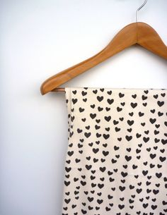 PRE ORDER As seen in Pregnancy and Newborn Magazine:  Black & White Scattered Heart Swaddle