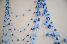 paper dyed star garland