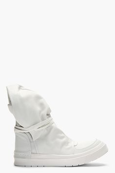 CA BY CINZIA ARAIA // WHITE LEATHER SANTIAGO SKIN CAP BOOTS | high end footwear | designer sneakers | shoes