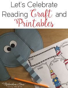 Celebrate Reading with these fun printables, craft, and hat that is perfect for any author study! My Kindergarten and First grade students LOVED making the hat, too!