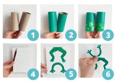 3 Fun DIY Sea Creatures: Toilet Paper Roll Crafts for Kids Toilet Paper Roll Crafts, Cardboard Crafts, Preschool Crafts, Crafts For Kids, Cool Toilets, Diy Pour Enfants, Frog Eye, Pencil Eraser, Fish Shapes