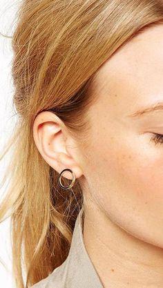 Karma-Ohrring Kreis Ohr Jacke Ewigkeit Bolzen Pearl von redsister