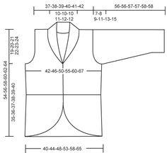 """Giacchino DROPS a maglia legaccio con davanti curvi in """"Fabel"""". Taglie: dalla S alla XXXL. Modello gratuito di DROPS Design."""