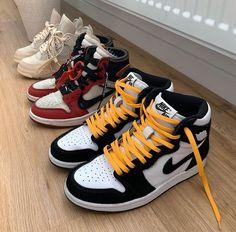 Jordan Shoes Girls, Girls Shoes, Cute Sneakers, Sneakers Nike, High Top Sneakers, Zapatillas Nike Jordan, Swag Shoes, Nike Air Shoes, Aesthetic Shoes
