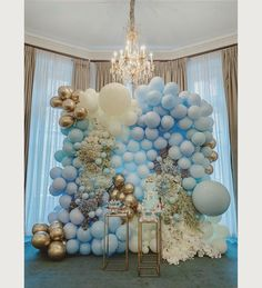 Decor & desserts in perfect pastel harmony👌🏻💙 We always love working with talented new cake partners & is no exception👏🏻💫 Idee Baby Shower, Baby Shower Deco, Boy Baby Shower Themes, Baby Shower Balloons, Baby Shower Parties, Baby Boy Shower, Balloon Backdrop, Balloon Wall, Balloon Garland