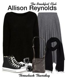 The Breakfast Club by sparkle1277 on Polyvore featuring polyvore, fashion, style, Intermix, J.W. Anderson, Converse, Overland Sheepskin Co., Giani, Blue Les Copains and clothing