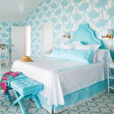 Mixing prints gives a monochromatic color scheme a fresh look. Get more tips from designer Meg Braff!