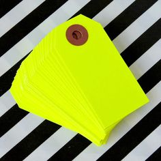 Image of Neon Yellow Shipping Tags - Set of 25