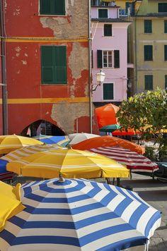 Sun Umbrella in Vernazza, Cinque Terre, Italy