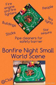 Bonfire Night small world scene