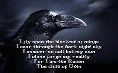 Edgar Allan Poe CORBUL Într-un sumbru miez de noapte cînd, sleit şi slab, în… Norse Pagan, Norse Mythology, Thor, Les Runes, Viking Quotes, Viking Life, Vegvisir, Crows Ravens, Norse Vikings