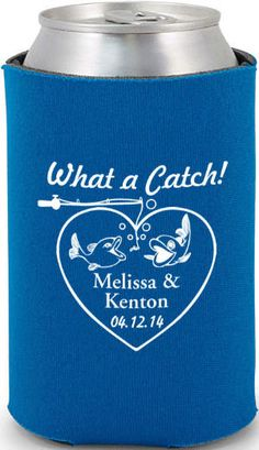 Wedding Can Coolers -6489 #koozie #fish
