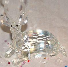 Swarovski Crystal Figurine Kudu Mint Condition Inspiration Africa 1994 Annual | eBay Swarovski Crystal Figurines, Swarovski Jewelry, Swarovski Pearls, Beautiful Things, Jewelry Accessories, Wildlife, Africa, Stones, Mint