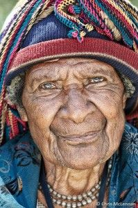 elderly papua woman