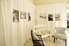 Family photos on display at the wedding reception - from Sherri Cassara Designs: Newland Barn Wedding!