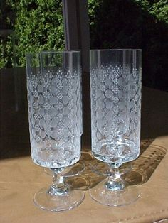 Rosenthal Studio Linie Motif I Romance 4 Claret Glasses Bjorn Wiinblad Design