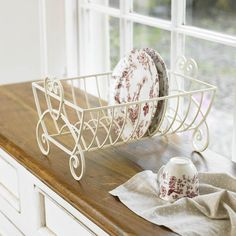 Decorative Wire Drying Rack and Floral China