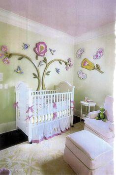 Custom Flower Cut-Outs...Baby Nursery...by Me!! :)