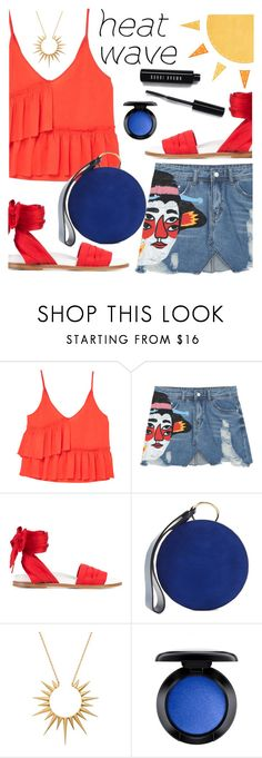 """""""How to Dress for a Heat Wave"""" by juliehooper ❤ liked on Polyvore featuring MANGO, Marques'Almeida, Diane Von Furstenberg, Celine Daoust, MAC Cosmetics and Bobbi Brown Cosmetics"""
