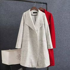 Spandex & Polyester & Cotton Women Overcoat