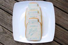 Mason Jar Cookies - 1 dozen on Etsy, $36.00