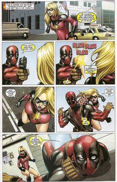 Deadpool vs. Dark Avengers Ms. Marvel