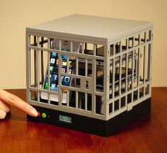 Sometimes you just need a little family time away from Facebook, Snapchat, and just being a slave to your phone. The Cell Lock-Up is a cage that allows you to lock multiple phones in a jail for up to ...