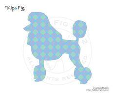 Poodle dog applique template  pdf applique pattern by KipandFig, £2.00