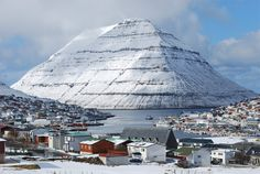 Klaksvik, nas ilhas Faroe, Dinamarca.