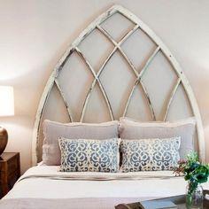 unique headboard idea . fixer upper . master bedroom staging. favorite episode .