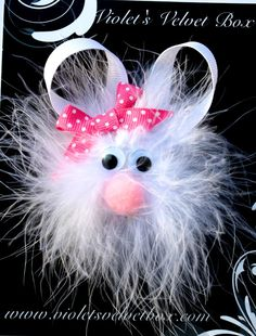 Easter Hair Clip- Easter Hair Bow- Bunny Hair Clippie- Baby Hair Bows- by Violet's Velvet Box. $5.99, via Etsy.