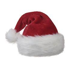 ff249f4404e Baloray Traditional Red and White Plush Christmas Santa Hat -