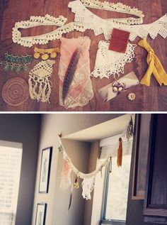 DIY: boho bunting @Linzi Johnson Johnson Fung This would be perfect for your Bell tent!