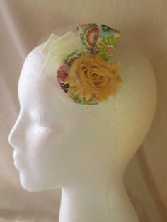 Yellow Fascinator by DaintylaceDesign on Etsy