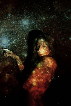 girl in psychedelic photo