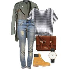 Get the Look #4: How to style your Army Jacket & Timberland Boots // ketarmada.polyvore.com