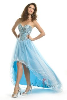 2015 elegant fashion cocktail dresses with Sweetheart Crystal beaded asymmetrical light blue pageant dress for prom party High Low Gown, High Low Prom Dresses, Prom Dresses Blue, Formal Dresses, Dresses Uk, Evening Dresses, Banquet Dresses, Prom Gowns, Short Dresses
