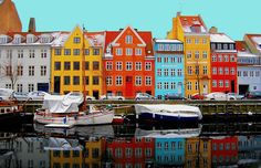 Christianshavn, Copenhagen, in Winter funny that I am living in the white build when I am mizz lov colour