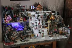 Christmas Village Ski Hill with more detail added for 2016