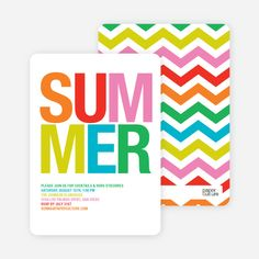 Ultra Modern Summer Party Invitations by Paper Culture