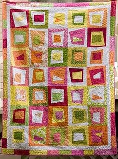 stack & wack wonky block quilt.