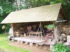 Lean-to -- Super Awesome outdoor hangout!!