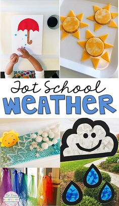 Teaching about weather is always one of my favorite science topics because there are so many great experiments to try. Check out these awesome weather ideas perfect for tot school, preschool or the kindergarten classroom. #Teachingtoddlers