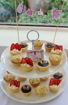 Finger pies served for dessert #wedding #weddingdessert #pies #minidessert #desserttable